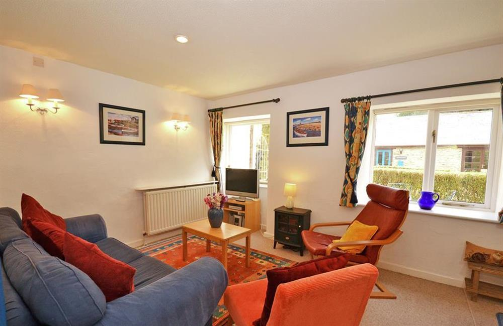 The living room at Gatehouse East, Modbury