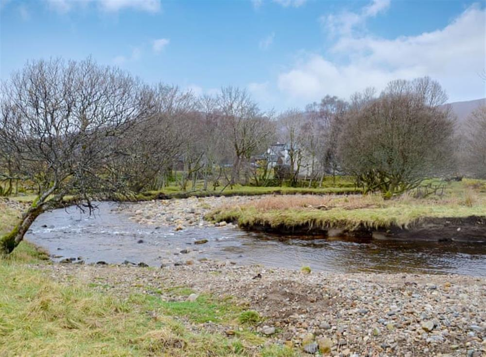 Surrounding area at Ghillies at Riverside in Inchnadamph, near Lochinver, Northern Highlands, Sutherland