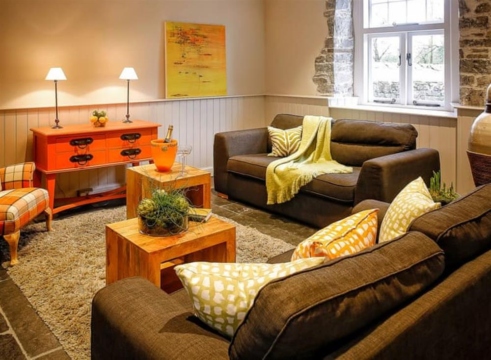 Attractive living area at The Stables,