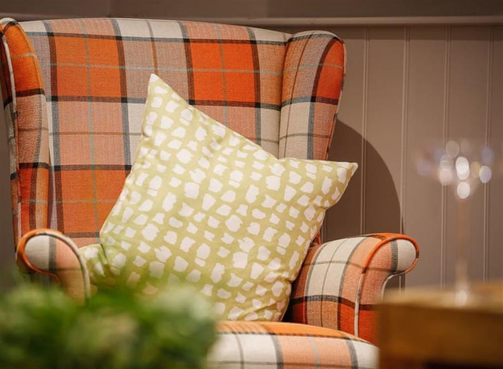 Stylish living area at The Stables,