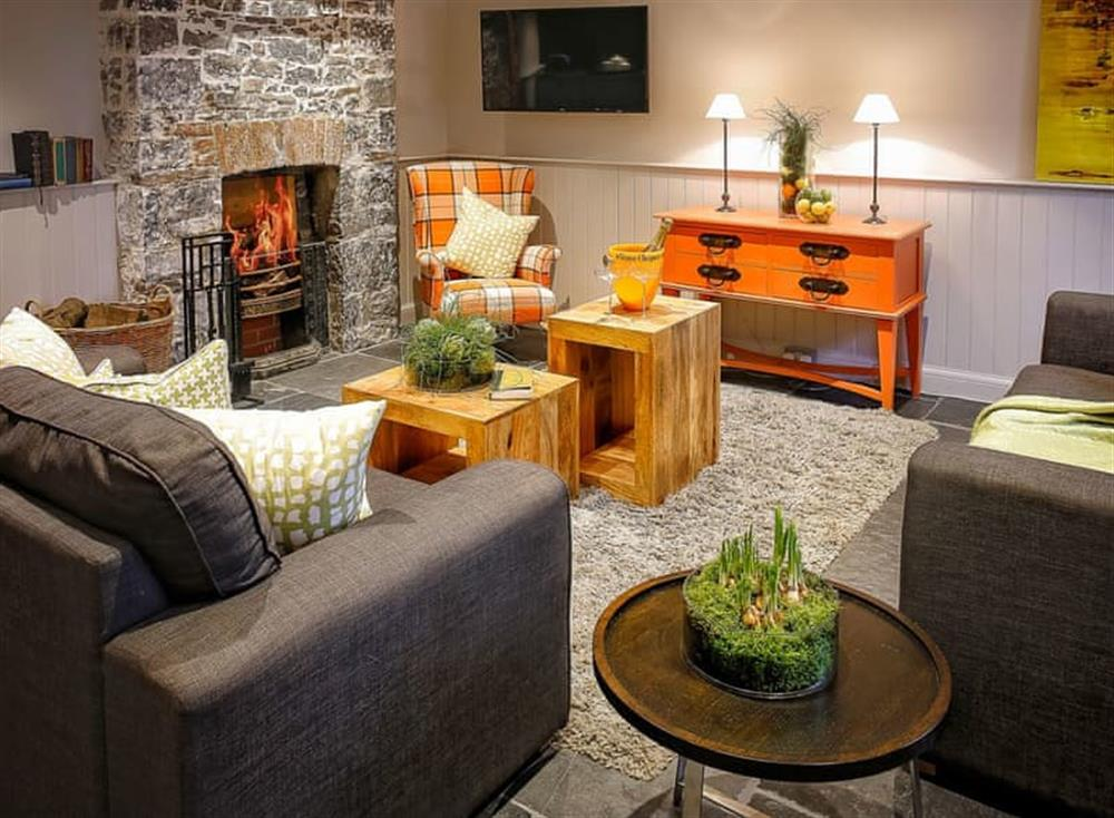 Welcoming living area at The Stables,