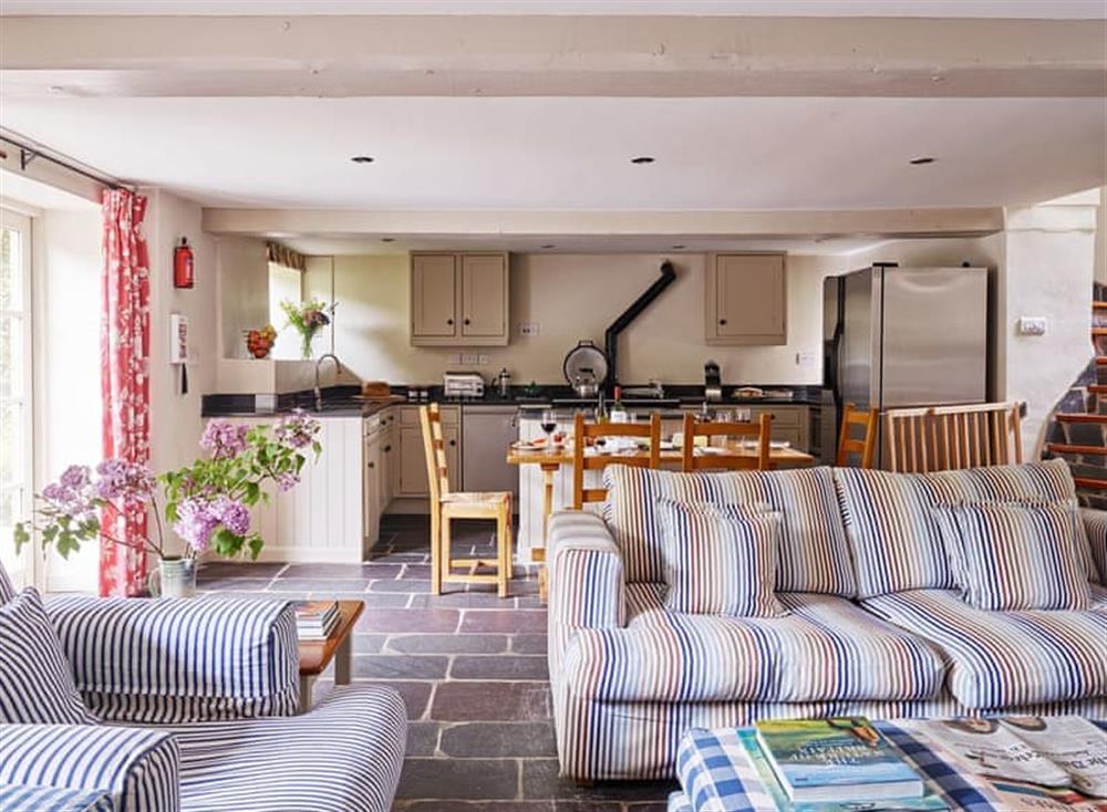 Convenient open-plan living space at Coach House,