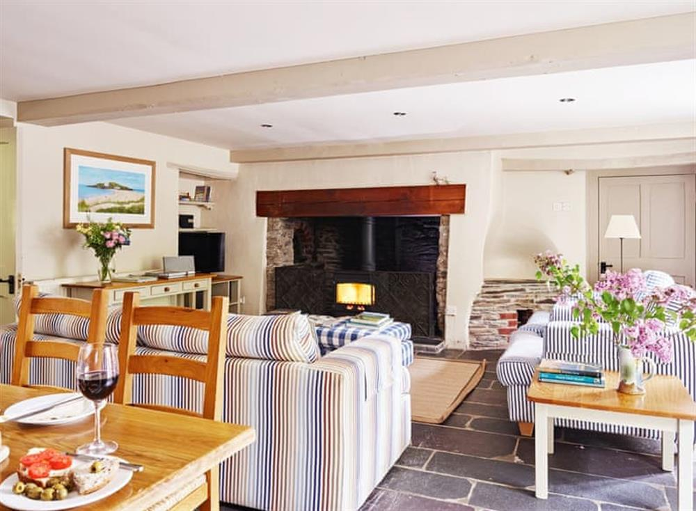 Welcoming living area at Coach House,