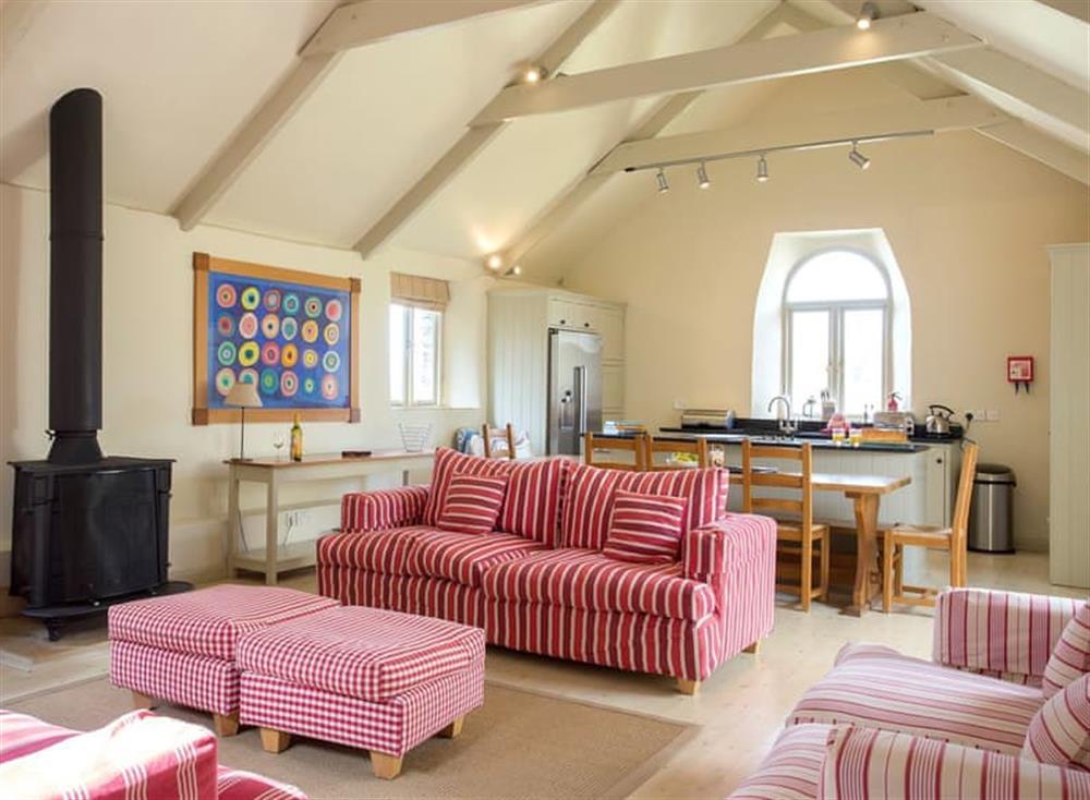 Luxurious open plan living space at Garden House,