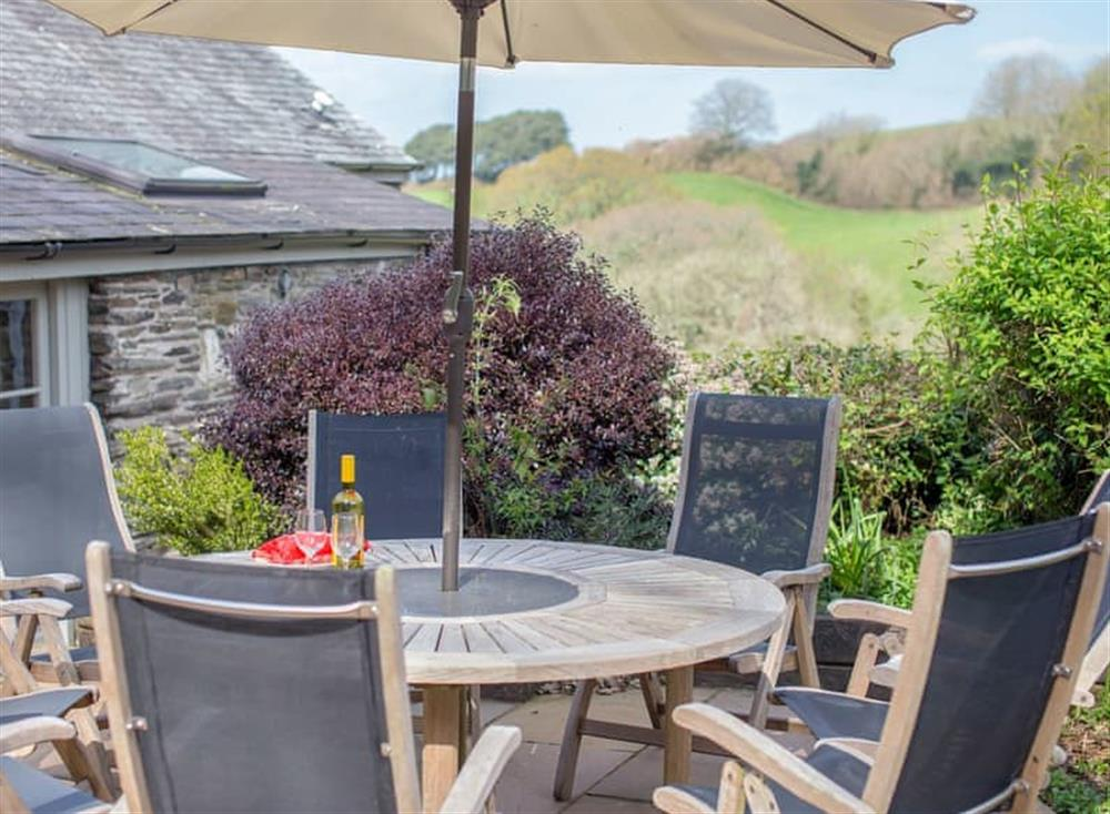 Sun deck with garden furniture at Garden House,