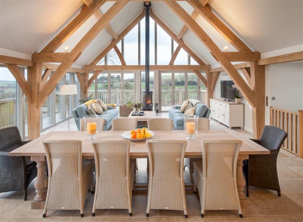 Convenient dining area at Gitcombe Retreat,