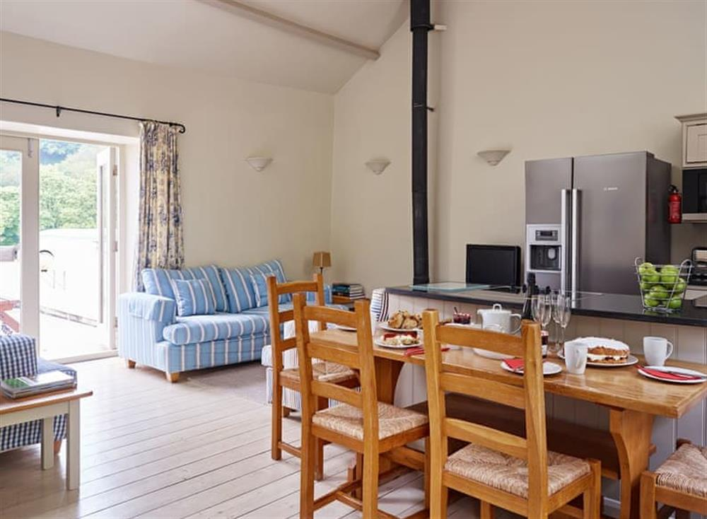 Spacious open-plan living areas at Haytor Cottage,