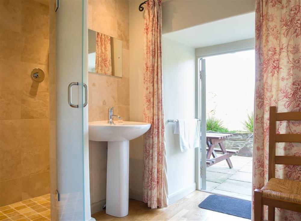 En-suite shower room at Maristow Cottage,