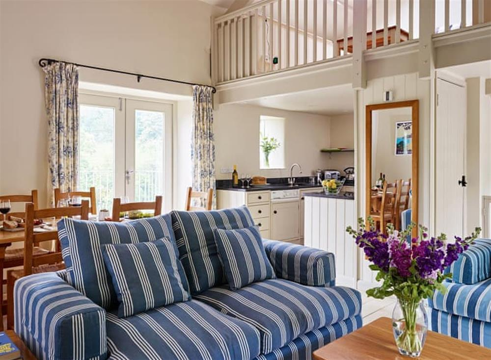 Convenient open-plan living space at Meavy Cottage,