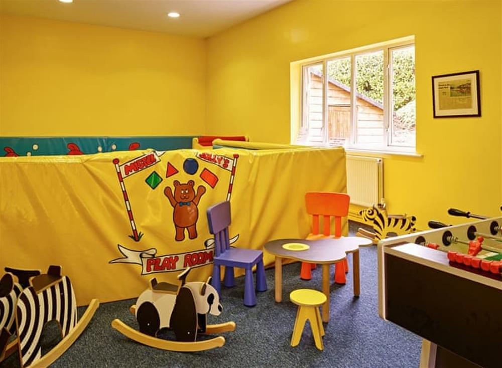 Shared children's play room at Meavy Cottage,