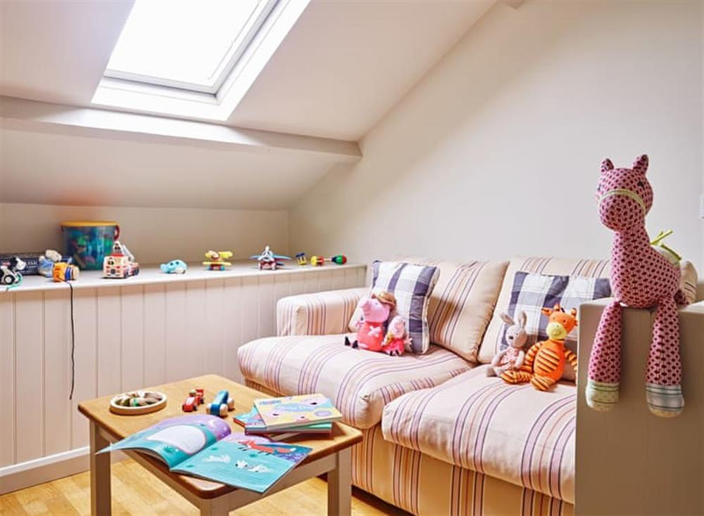 Useful play room at Meavy Cottage,
