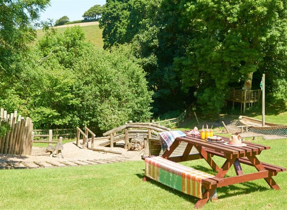 Well-maintained gardens and grounds at Meavy Cottage,