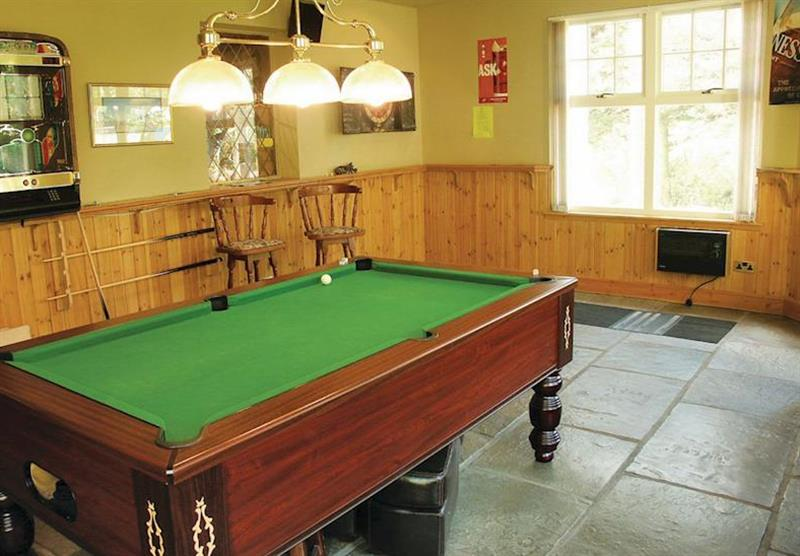 Games room at Glen Clova Lodges in Nr Kirriemuir, Southern Highlands