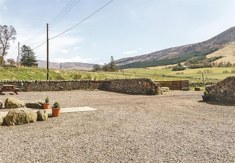 The park setting at Glen Clova Lodges in Nr Kirriemuir, Southern Highlands