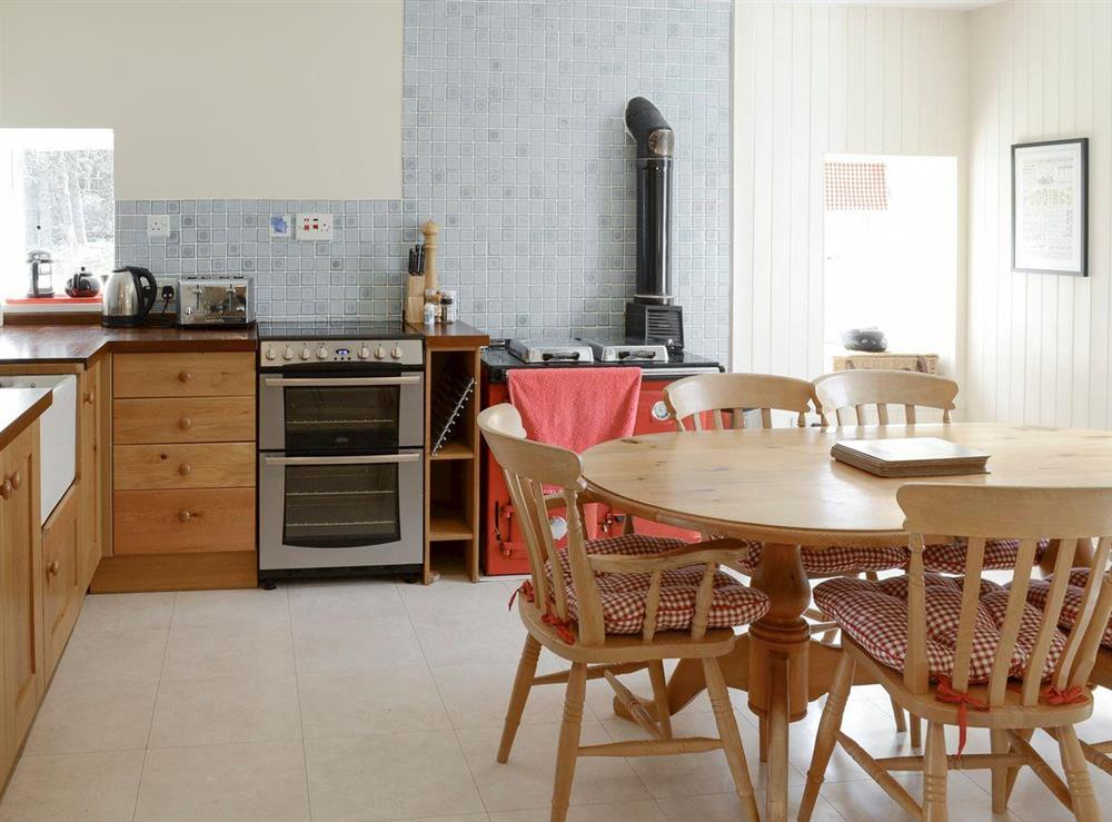 Spacious kitchen with dining area at Keepers House,