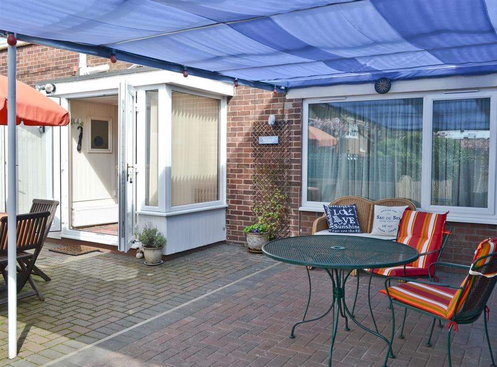 Sitting-out-area at Golden Mile Apartment in Great Yarmouth, Norfolk