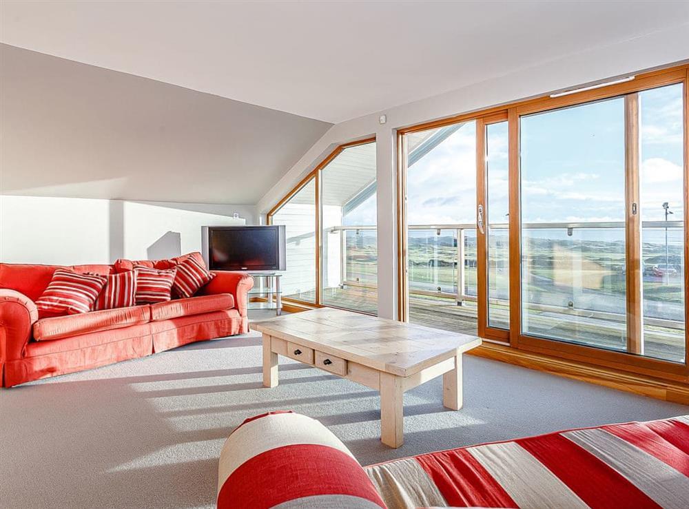 Sitting room at Golf View in Cruden Bay, near Banff, Aberdeenshire
