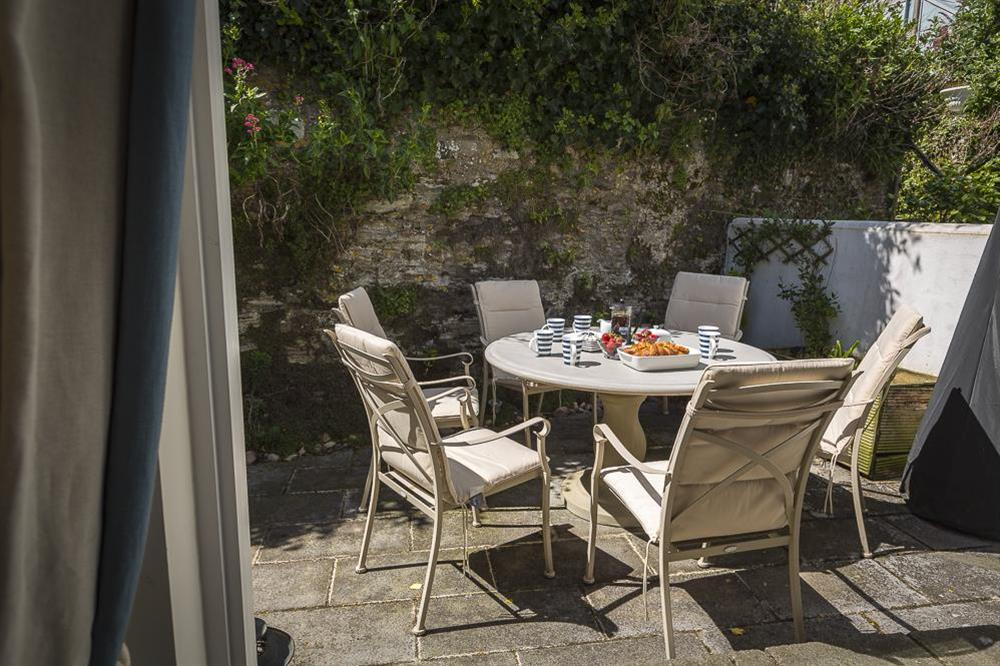 Furnished rear terrace with barbecue (photo 2) at Gooder House in , Dartmouth
