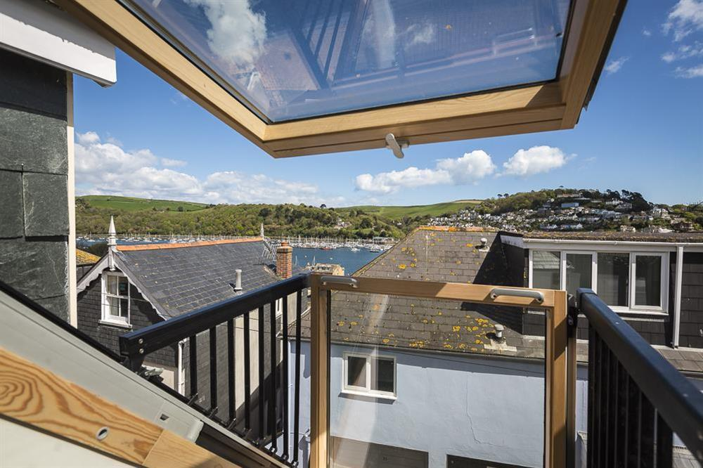 Stunning river views from the dormer windows and Juliet 'Velux' balcony (photo 2) at Gooder House in , Dartmouth