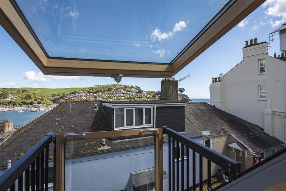 Stunning river views from the dormer windows and Juliet 'Velux' balcony at Gooder House in , Dartmouth