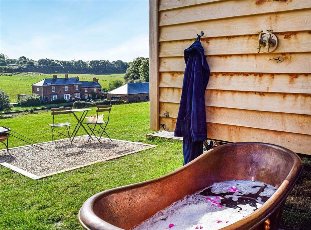 Outdoor area at Grace in Little Braunston, Northamptonshire
