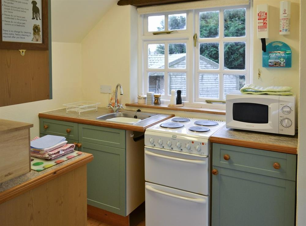 Kitchen at Granary Cottage in Diptford, Devon