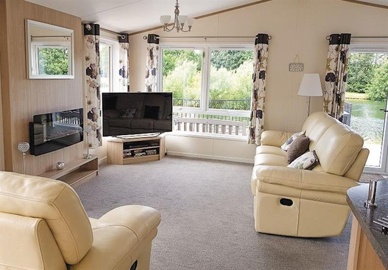 Living room in Luxury Lodge Plus at Grand Eagles Lodges in Nether Coul, Auchterarder