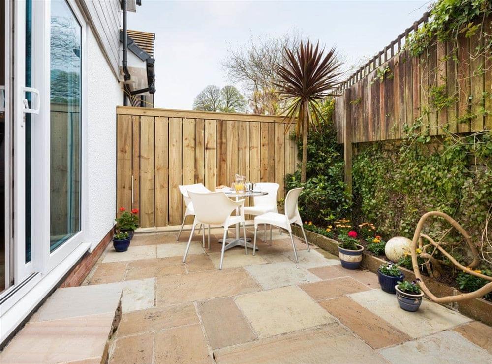 Enclosed patio area at Grandview Dartmouth in Dartmouth, Devon