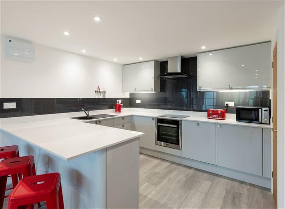 Fully appointed fitted kitchen at Grandview Dartmouth in Dartmouth, Devon