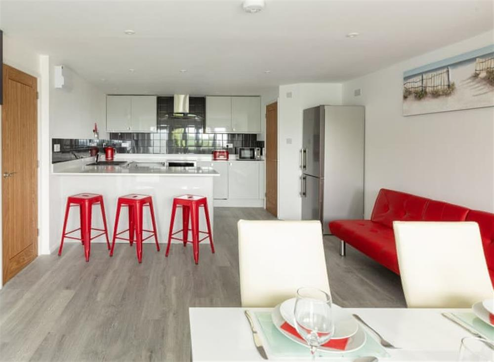 Large kitchen and dining room at Grandview Dartmouth in Dartmouth, Devon