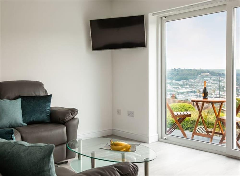 Living room with balcony access at Grandview Dartmouth in Dartmouth, Devon