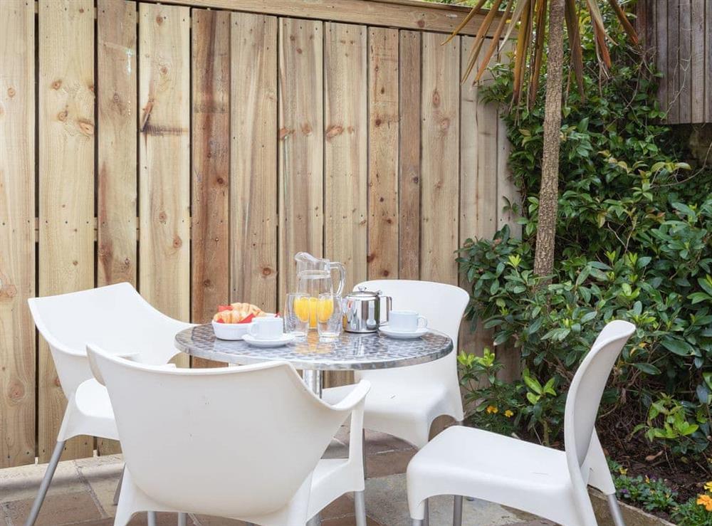 Outdoor furniture on the patio at Grandview Dartmouth in Dartmouth, Devon
