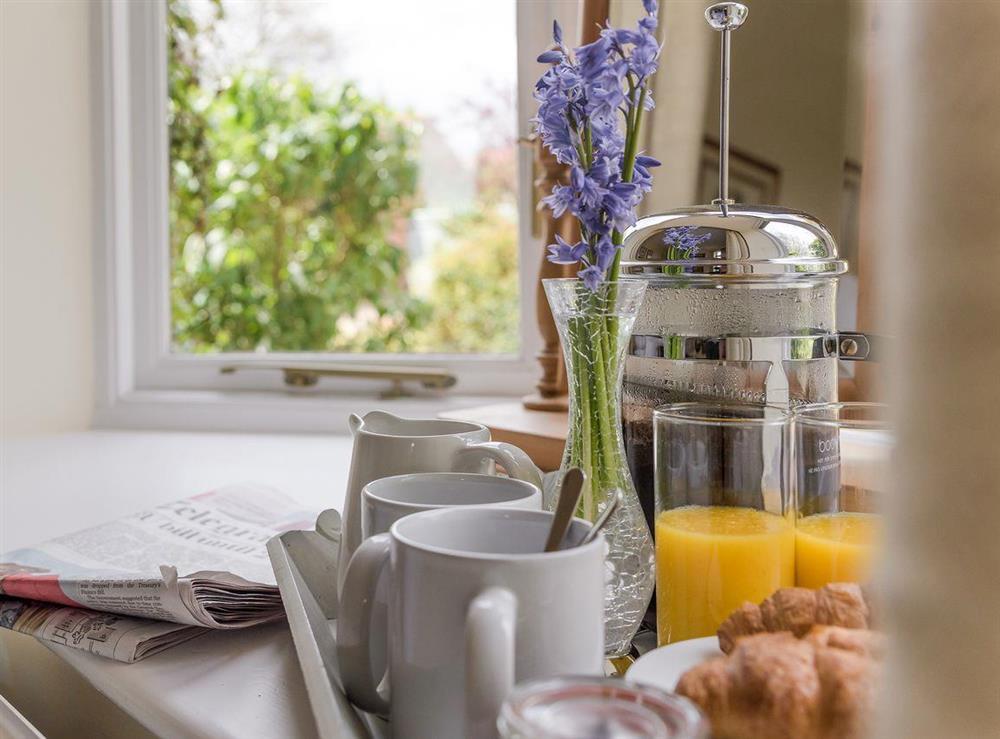 Breakfast time at Grange Croft in Wymondham, near Oakham, Leicestershire, Norfolk