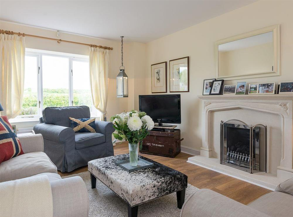 Cosy living room at Grange Croft in Wymondham, near Oakham, Leicestershire, Norfolk