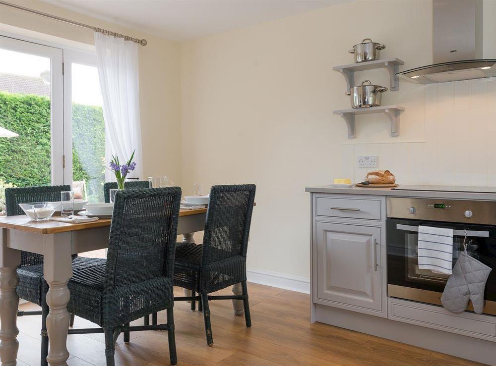 Dining area at Grange Croft in Wymondham, near Oakham, Leicestershire, Norfolk