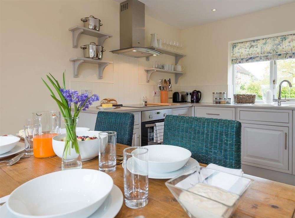 Dining table at Grange Croft in Wymondham, near Oakham, Leicestershire, Norfolk