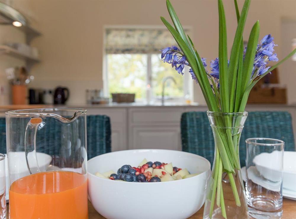 Kitchen with dining area at Grange Croft in Wymondham, near Oakham, Leicestershire, Norfolk