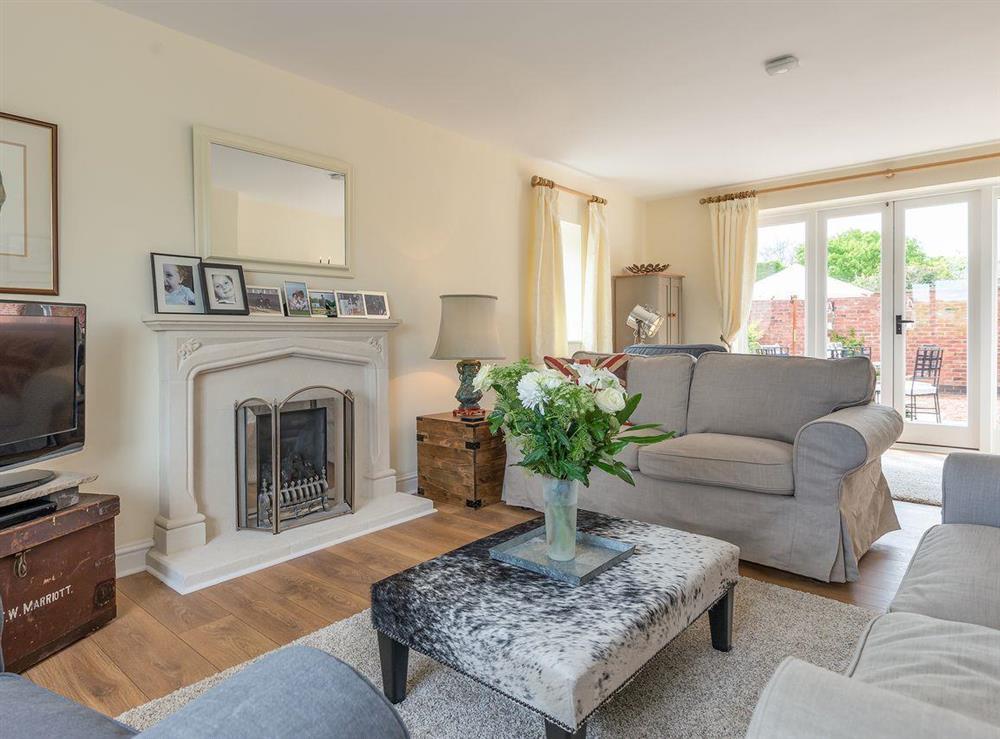 Light & airy living room at Grange Croft in Wymondham, near Oakham, Leicestershire, Norfolk