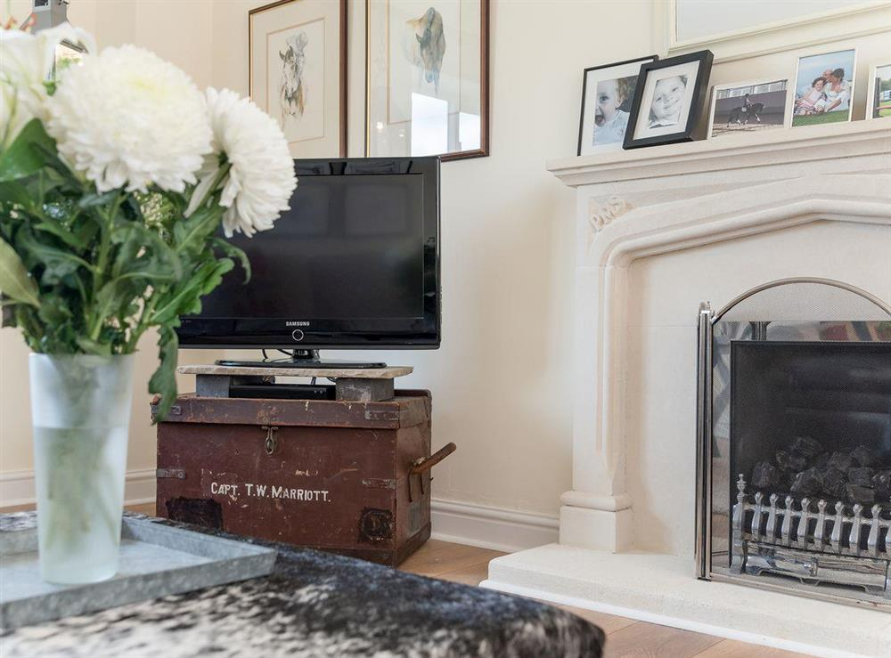 Living room with LCD TV at Grange Croft in Wymondham, near Oakham, Leicestershire, Norfolk