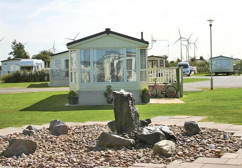 Landscaped features at Grange Leisure Park in Lincolnshire, East of England