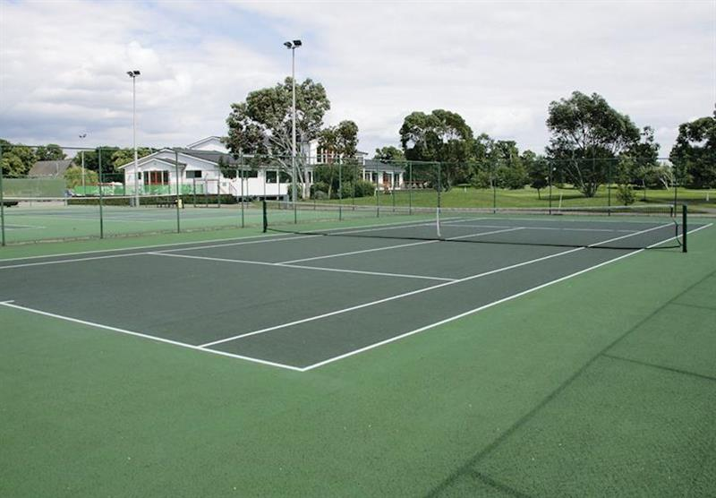 Tennis court at Grange Park Lodges in Messingham, Lincolnshire