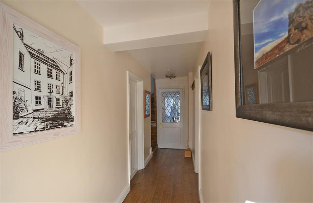 Grants Hallway with a Paul Barclay design of the cottage at Grants Cottage, Dartmouth