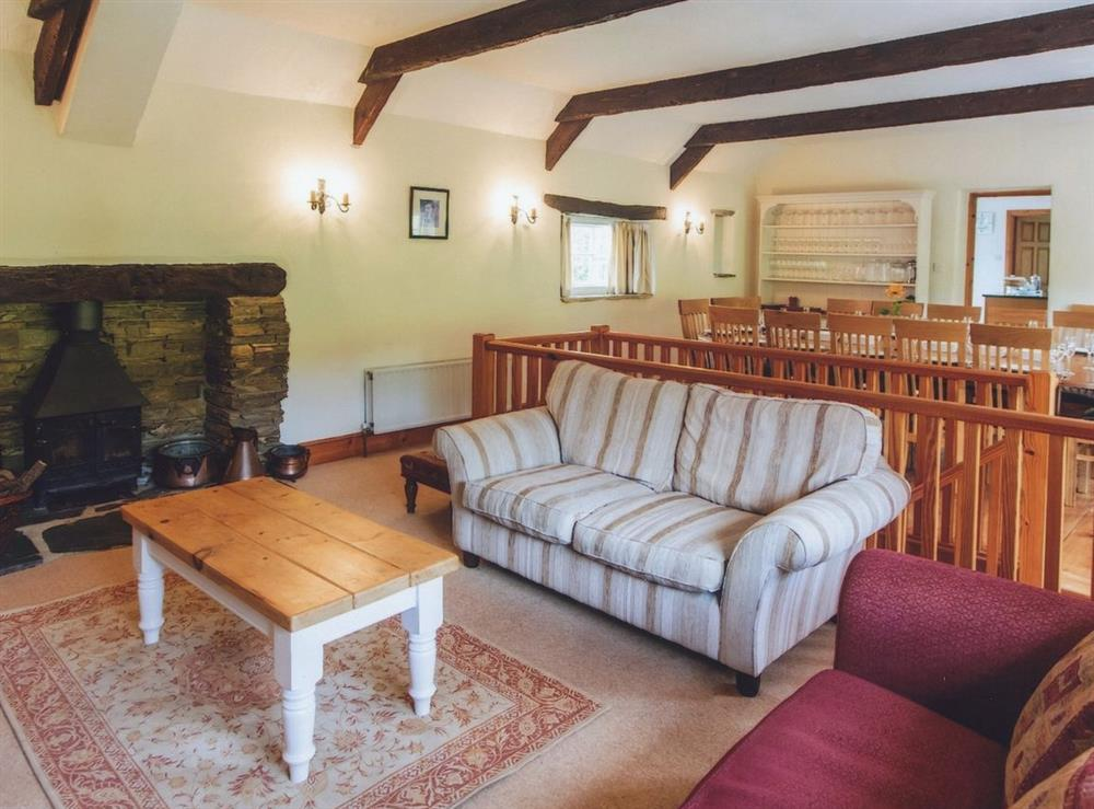 Main house-living/dining room at Great Horner in Halwell, near Totnes, Devon