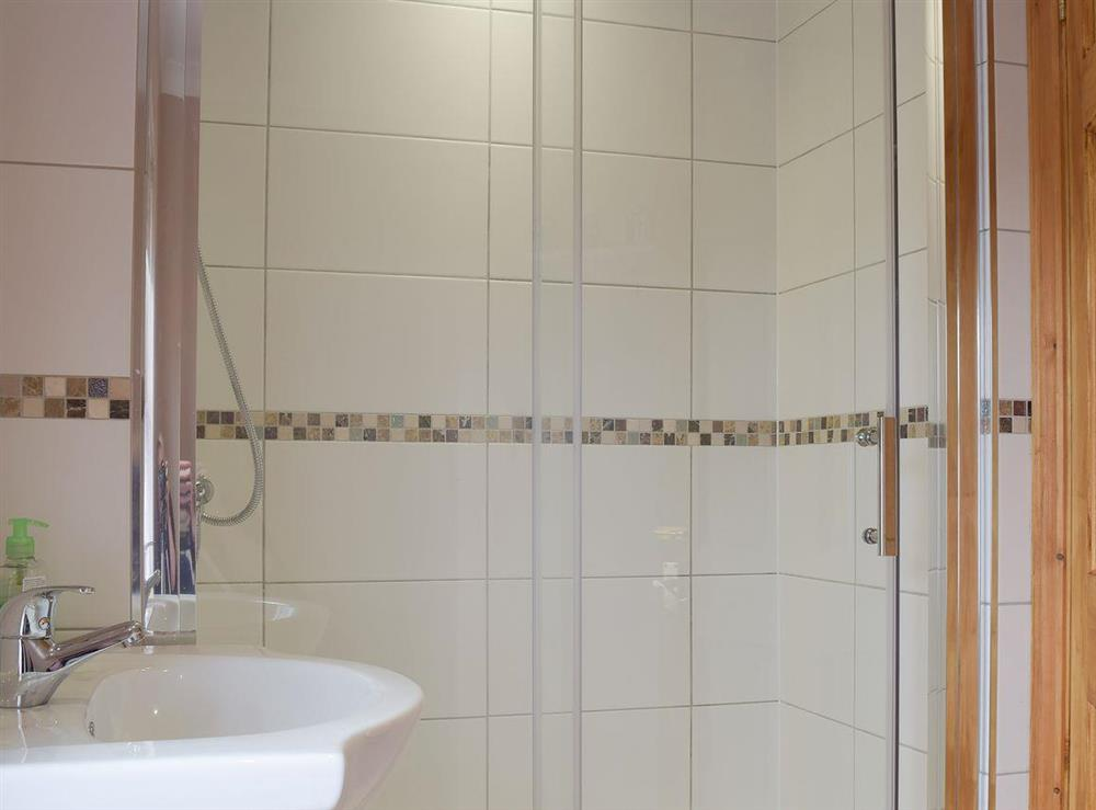 Shower room with WC at Grebe Cottage in West Somerton, near Winterton-on-Sea, Norfolk, England
