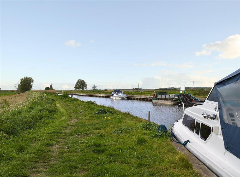 The property is close to the broads and all that they have to offer at Grebe Cottage in West Somerton, near Winterton-on-Sea, Norfolk, England