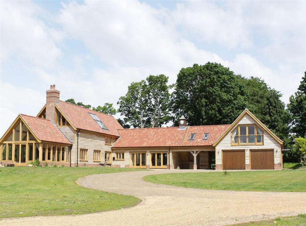 Exterior on the right hand side at Green Acre Lodge in Tatterford, near Fakenham, Norfolk