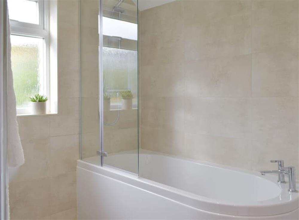 Family bathroom with shower over bath at Green Acres in St Dogmaels, near Cardigan, Cardigan, Dyfed