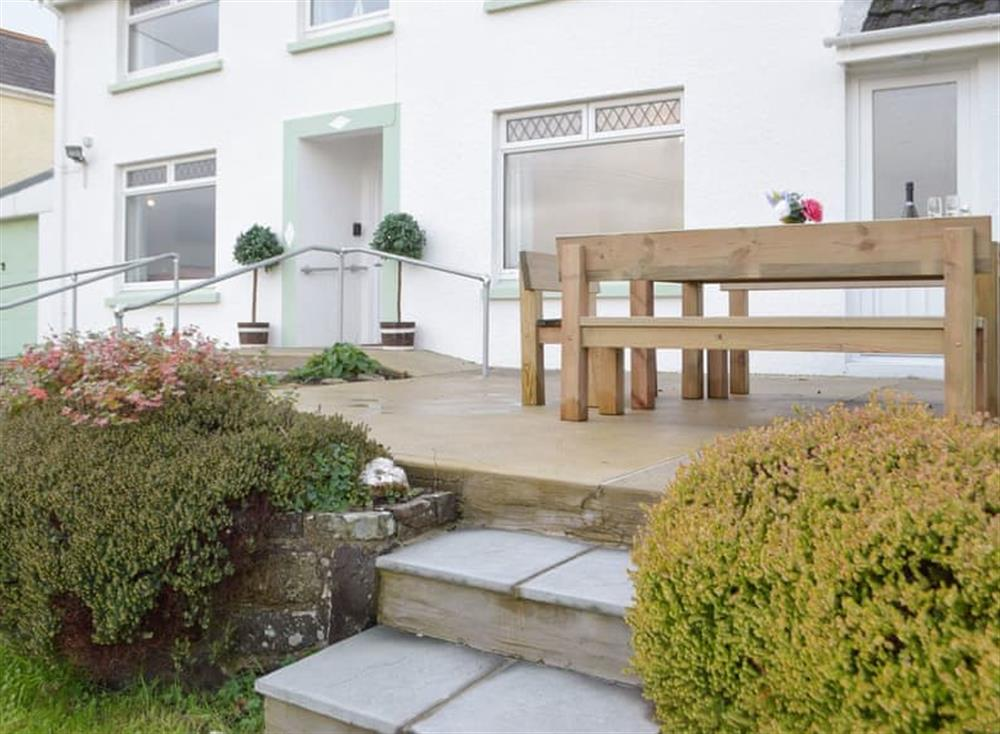 Patio area with outdoor furniture at Green Acres in St Dogmaels, near Cardigan, Cardigan, Dyfed