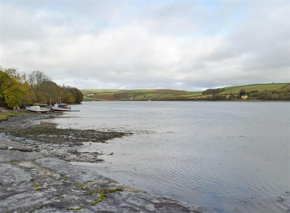 Picturesque lake across from the holiday home at Green Acres in St Dogmaels, near Cardigan, Cardigan, Dyfed