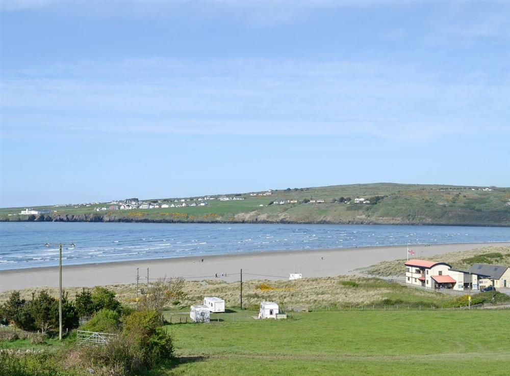 Poppit sands at Green Meadow in St Dogmaels, near Cardigan, Dyfed